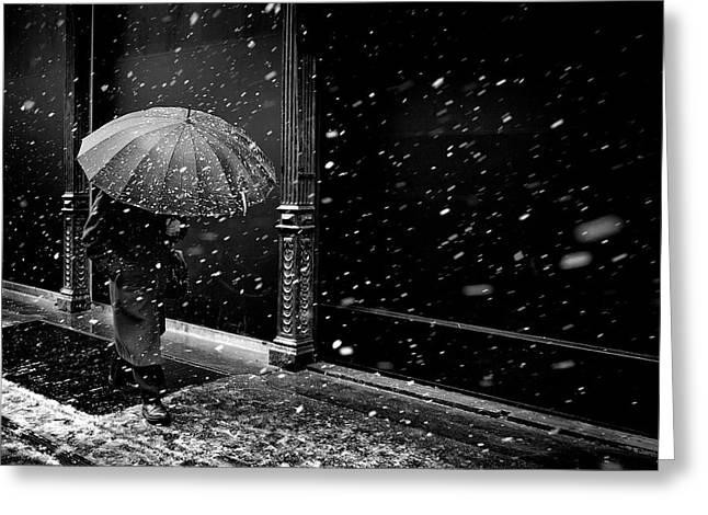 Umbrellas Greeting Cards - Untitled Greeting Card by Diego Bardone