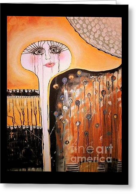 Tears Greeting Cards - Untitled Greeting Card by Hollie Murphy