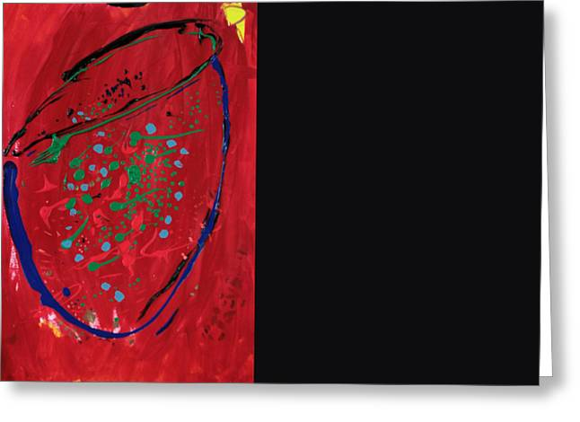 Basquiat Greeting Cards - Untitled Greeting Card by Kim Bell Jr
