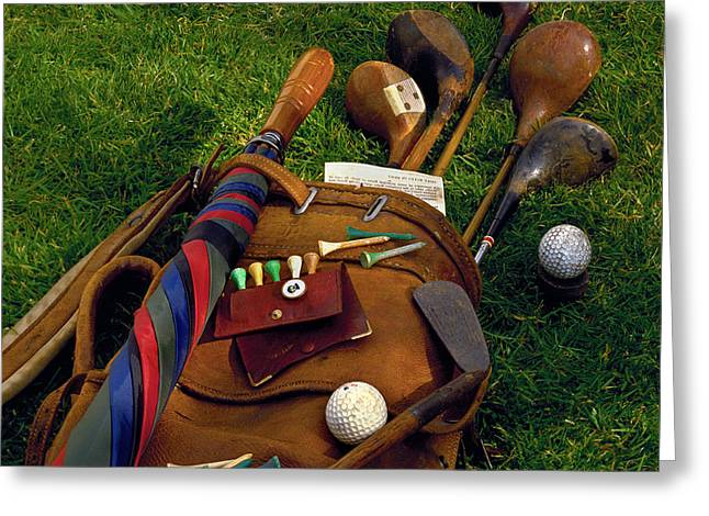 Golfing Photographs Greeting Cards - Untitled Greeting Card by Simon Kayne