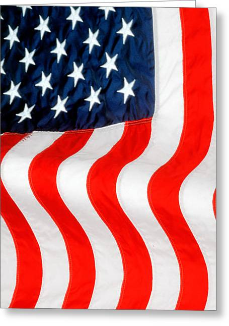 Independance Greeting Cards - U.S. Flag Greeting Card by George Robinson
