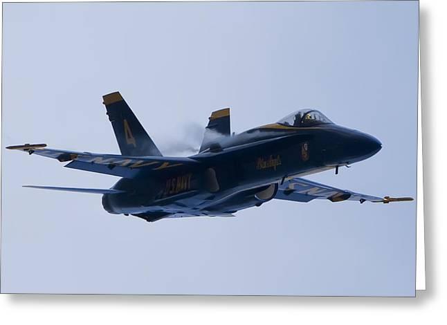 US Navy Blue Angels High Speed Turn Greeting Card by Dustin K Ryan