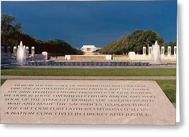 Patriotic Photography Greeting Cards - U.s. World War Ii Memorial Greeting Card by Panoramic Images
