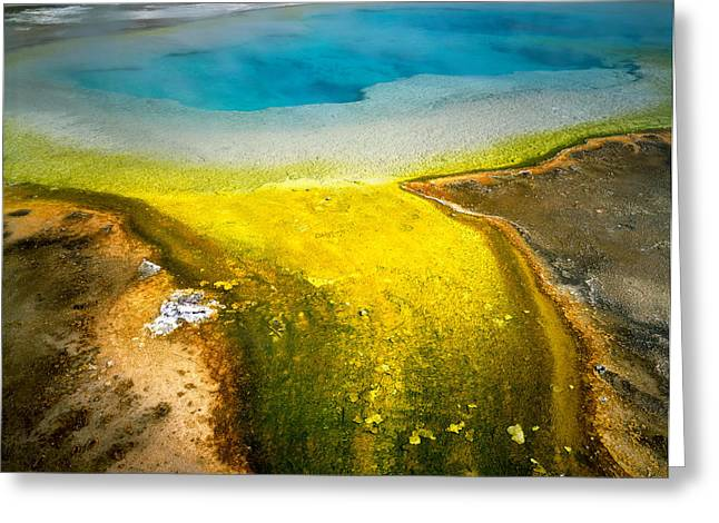 Color Glory Greeting Cards - Usa, Wyoming, Yellowstone National Greeting Card by Panoramic Images