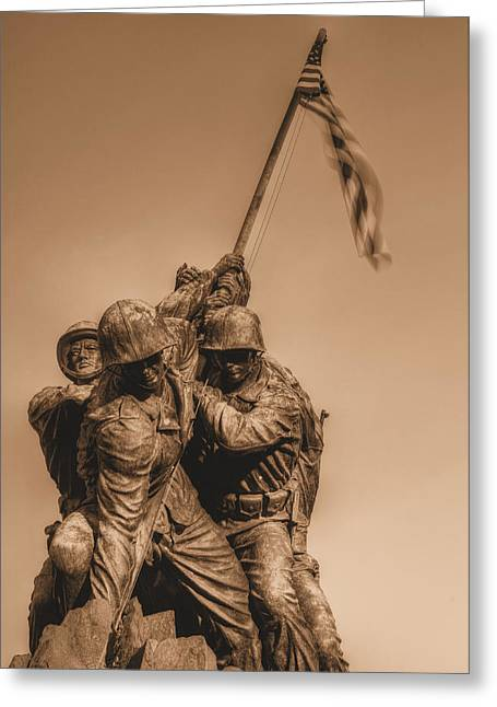 Marine Corp Greeting Cards - Usmc Greeting Card by JC Findley