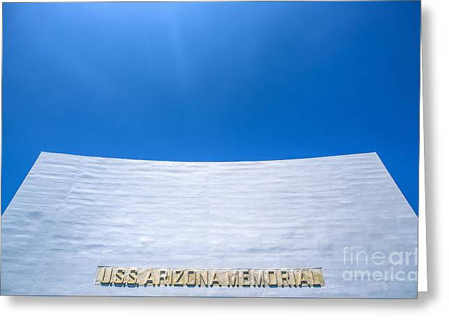 Historic Site Greeting Cards - USS Arizona Memorial Greeting Card by Diane Diederich