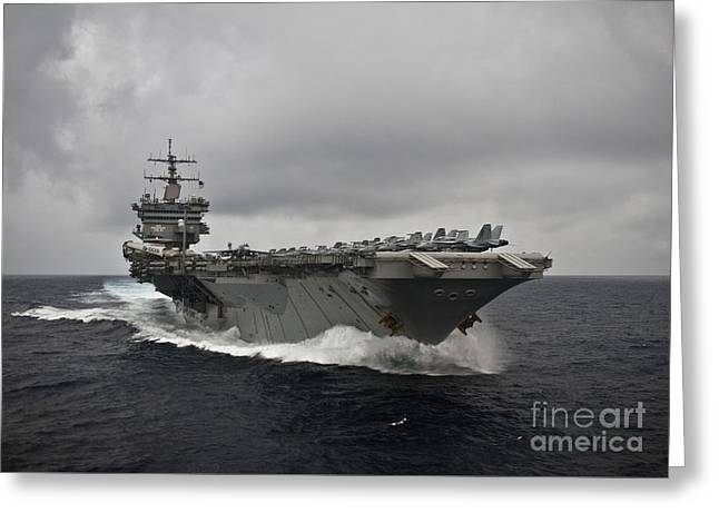 Enterprise Paintings Greeting Cards - USS Enterprise Greeting Card by Celestial Images