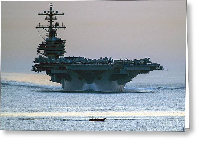 Strike Paintings Greeting Cards - USS George H.W. Bush Greeting Card by Celestial Images