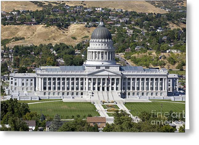 State Legislator Greeting Cards - Utah State Capitol in Salt Lake City Greeting Card by Anthony Totah