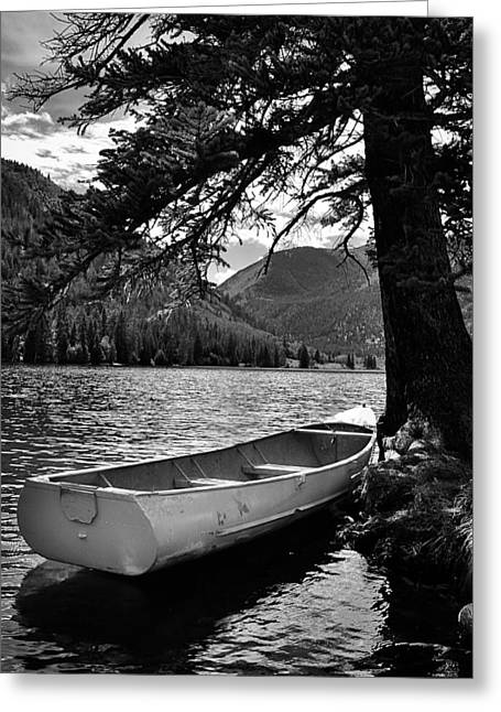 Lake Buena Vista Greeting Cards - Vacant Dinghy Greeting Card by Kevin Munro