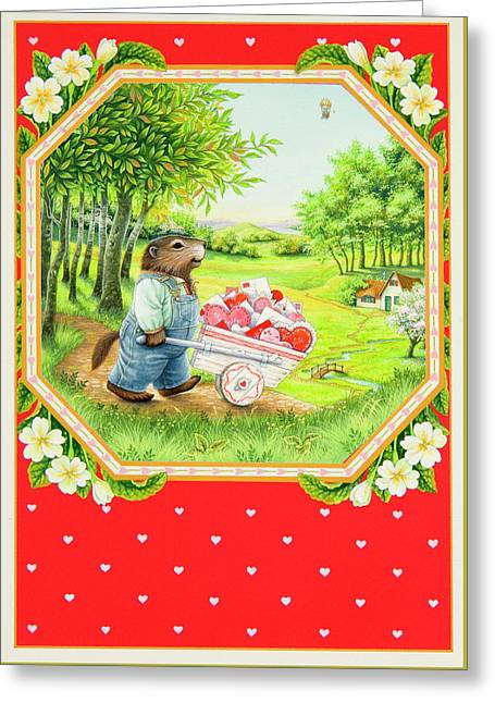 Valentine Delivery Greeting Card by Lynn Bywaters