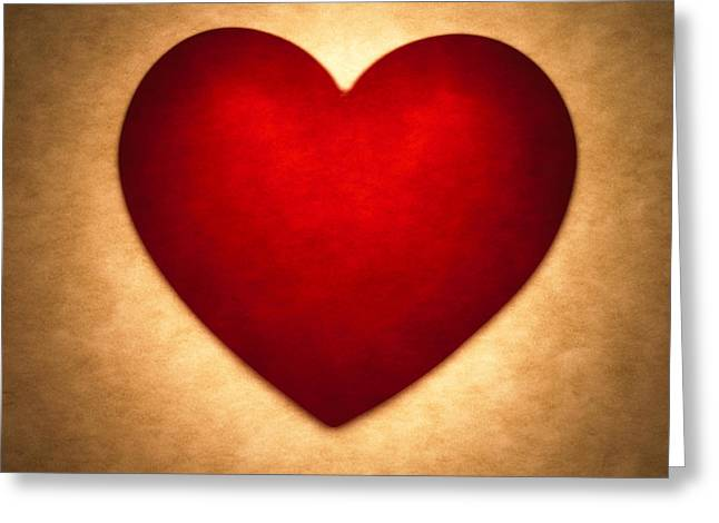 Brown Tone Greeting Cards - Valentine Heart Greeting Card by Tony Cordoza