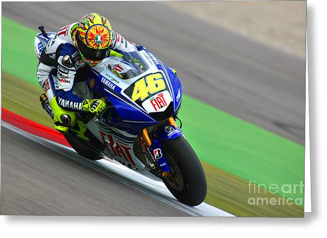 Acryl Greeting Cards - Valentino Rossi Greeting Card by Henk Meijer Photography