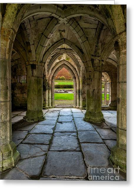 Valle Crucis Abbey  Greeting Card by Adrian Evans