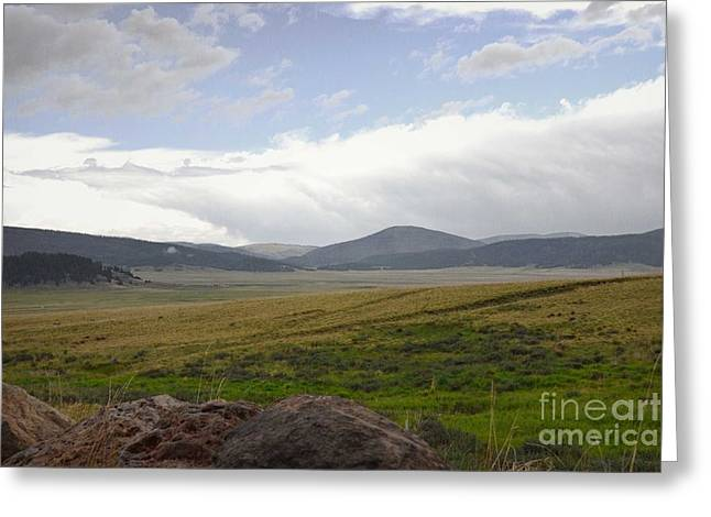 Jemez Mountains Greeting Cards - Valles Caldera Countryside Greeting Card by Andrea Hazel Ihlefeld