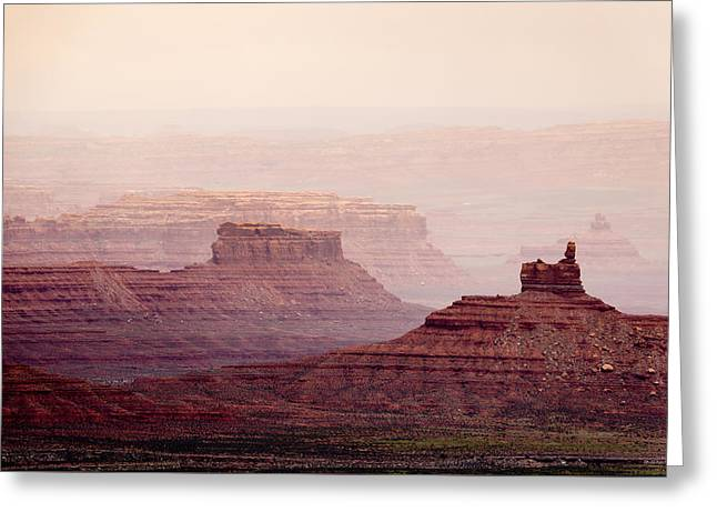 The Plateaus Greeting Cards - Valley of the Gods Greeting Card by Helix Games Photography