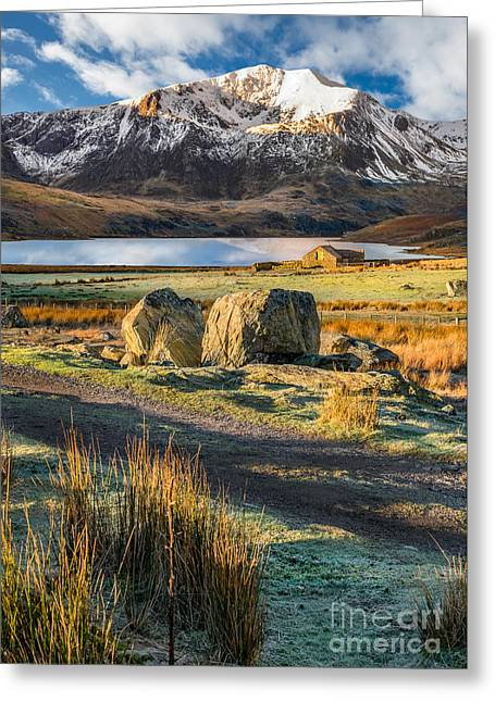 Valley Sunlight Greeting Card by Adrian Evans