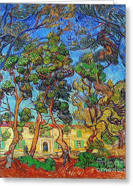 Faa Photographs Greeting Cards - Van Gogh: Hospital, 1889 Greeting Card by Granger