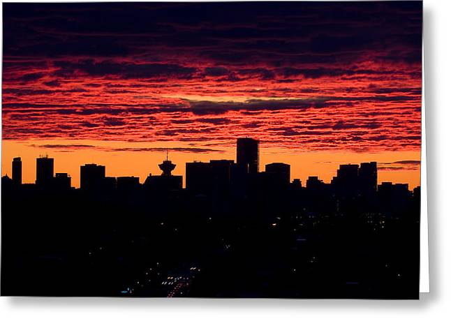 Vancouver Greeting Cards - Vancouver Sunset  Greeting Card by Naman Imagery