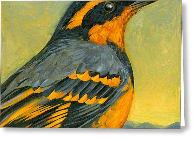 Varied Thrush Greeting Card by Francois Girard
