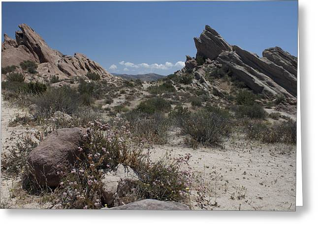 Colorful Cloud Formations Greeting Cards - Vasquez Rocks Greeting Card by Ivete Basso Photography