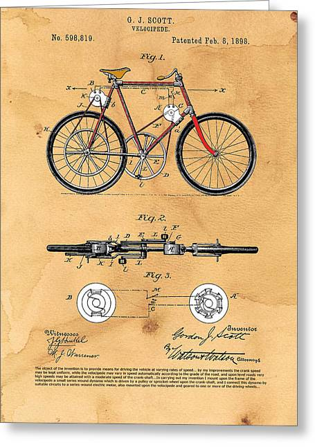 Dynamos Greeting Cards - Velocipede - dynamo assisted Greeting Card by Ray Walsh
