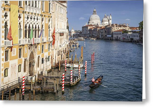 Canal Grande Greeting Cards - VENICE Canal Grande and Santa Maria della Salute Greeting Card by Melanie Viola