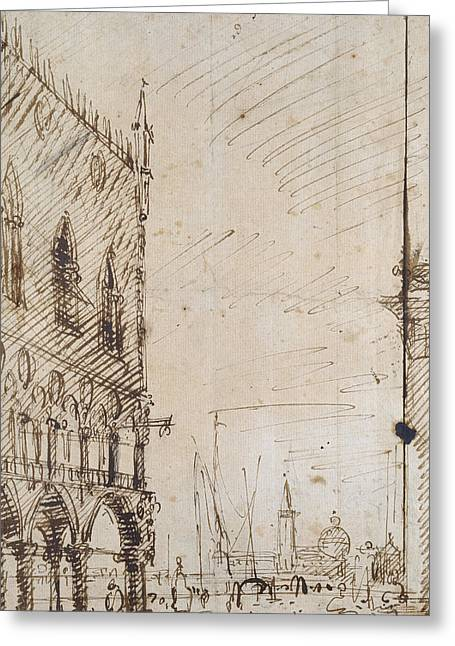 Venice Greeting Card by Canaletto