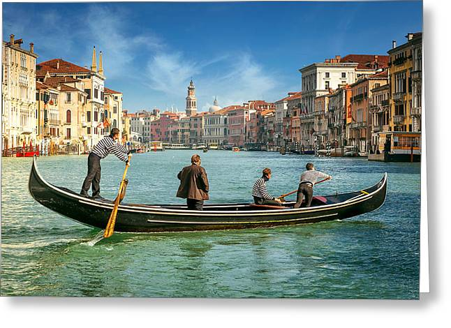 Venice Grand Canal Greeting Card by Nick M