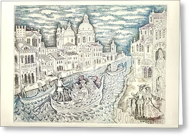 Venice Greeting Card by Milen Litchkov