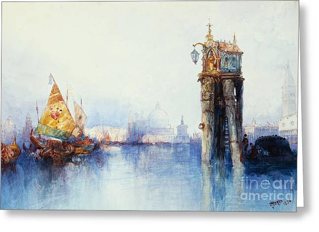 Campanile Greeting Cards - Venice Greeting Card by Thomas Moran