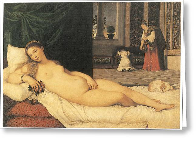 Titian Paintings Greeting Cards - Venus of Urbino Greeting Card by Titian