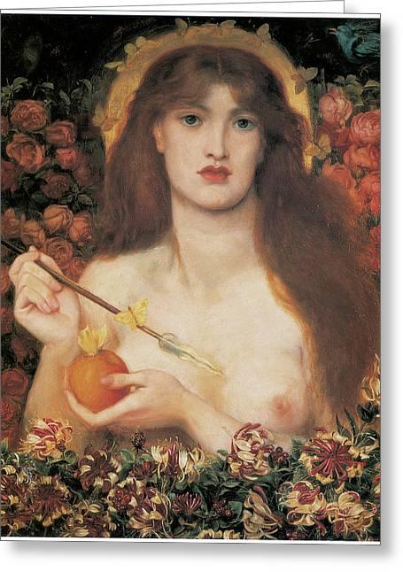 Dante Greeting Cards - Venus Verticordia Greeting Card by Dante Gabriel Rossetti