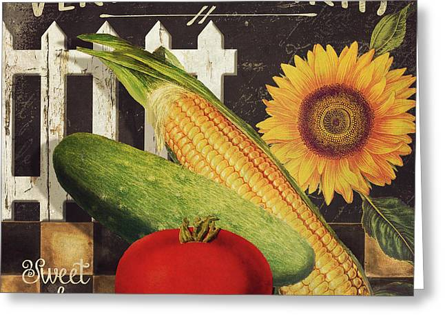 Veggie Greeting Cards - Vermont Farms Vegetables Greeting Card by Mindy Sommers