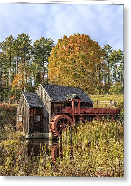 Vermont Grist Mill Greeting Card by Edward Fielding