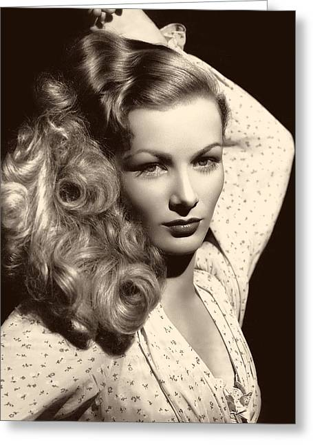 1950s Portraits Photographs Greeting Cards - Veronica Lake 1952 Greeting Card by Mgm