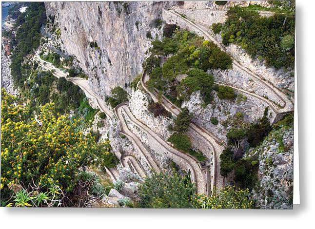 Via Krupp - Capri Greeting Card by Joana Kruse