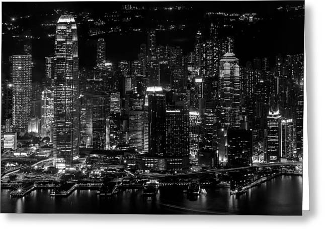 Modern Photographs Greeting Cards - Victoria Harbor - Hong Kong Greeting Card by The Photographer