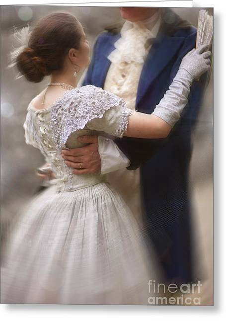 Updo Greeting Cards - Victorian Couple Dancing Greeting Card by Lee Avison