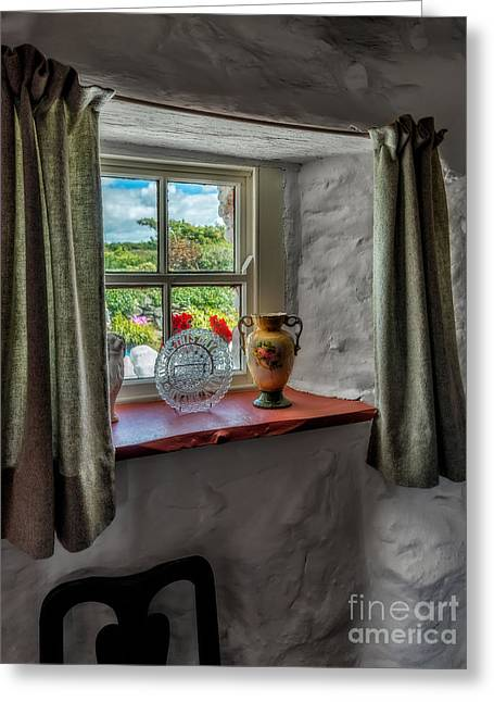 Frame House Digital Greeting Cards - Victorian Window  Greeting Card by Adrian Evans