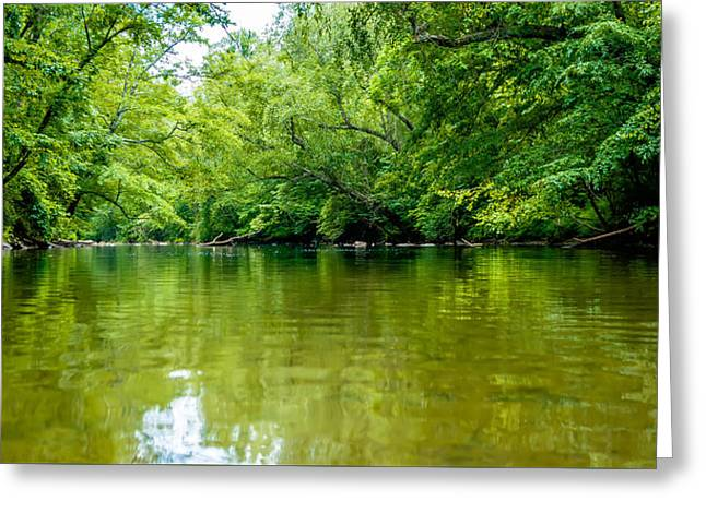 River View Greeting Cards - View From Kayak Towards Mountain River Rushing Waters Greeting Card by Alexandr Grichenko