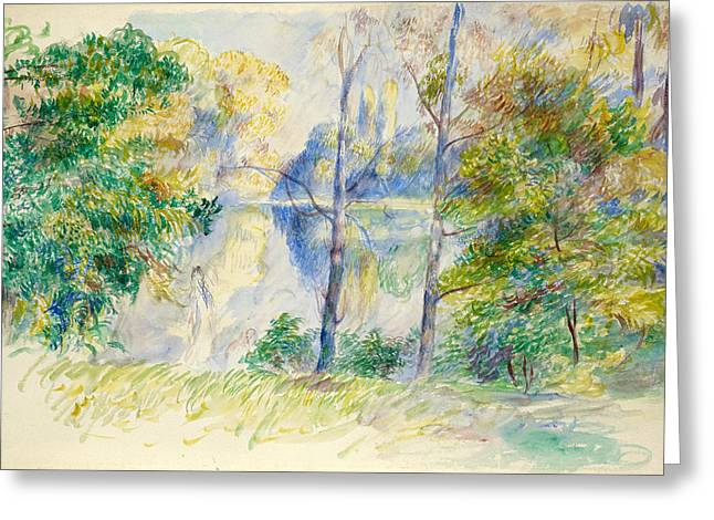 Renoir Greeting Cards - View of a Park Greeting Card by Auguste Renoir