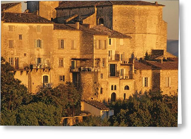 Village de Gordes. Vaucluse. France. Europe Greeting Card by BERNARD JAUBERT