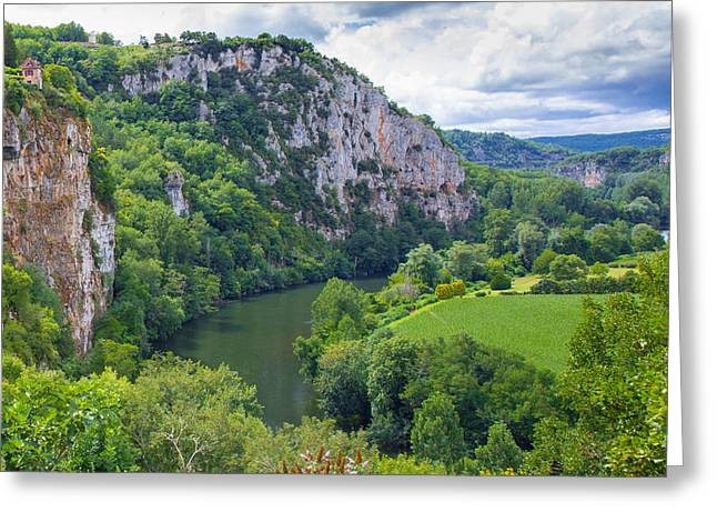 Collective Greeting Cards - Village of Saint Circ Lapopie in France on a summer day Greeting Card by Semmick Photo