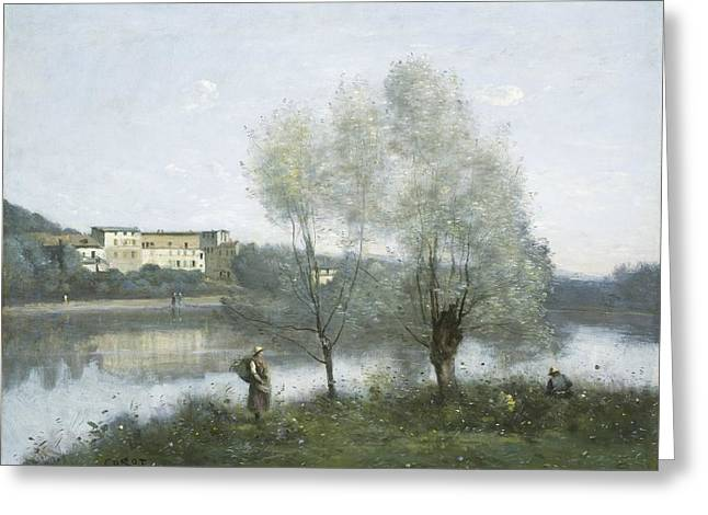 Bird Watcher Greeting Cards - Ville-davray Greeting Card by Jean-baptiste-camille Corot
