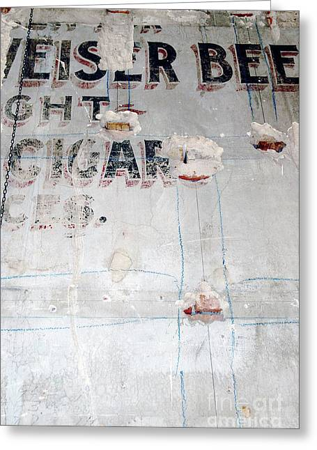 Abstracto Greeting Cards - Vintage Cigar Sign Greeting Card by Anahi DeCanio - ArtyZen Studios