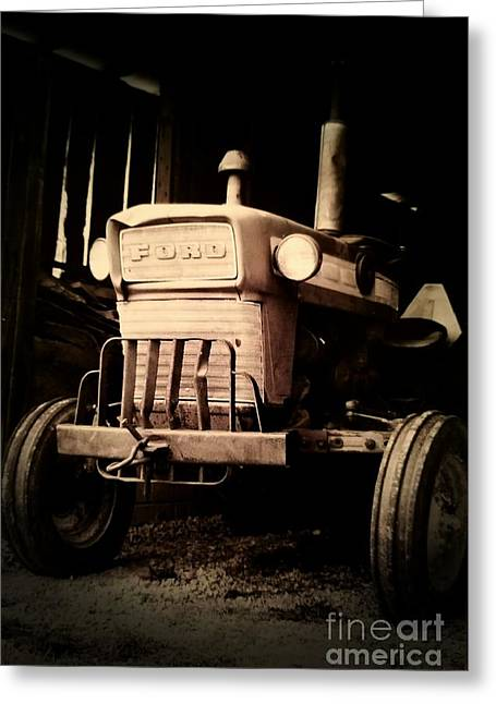 Vintage Ford Farm Tractor Greeting Card by Scott D Van Osdol