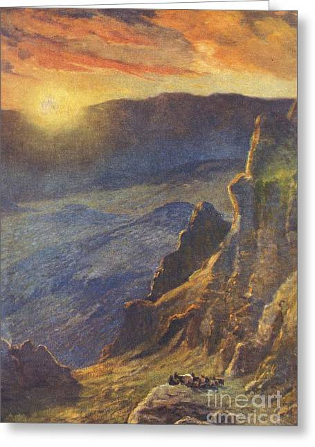 Craters Paintings Greeting Cards - Vintage Hawaiian Art Greeting Card by Hawaiian Legacy Archive - Printscapes