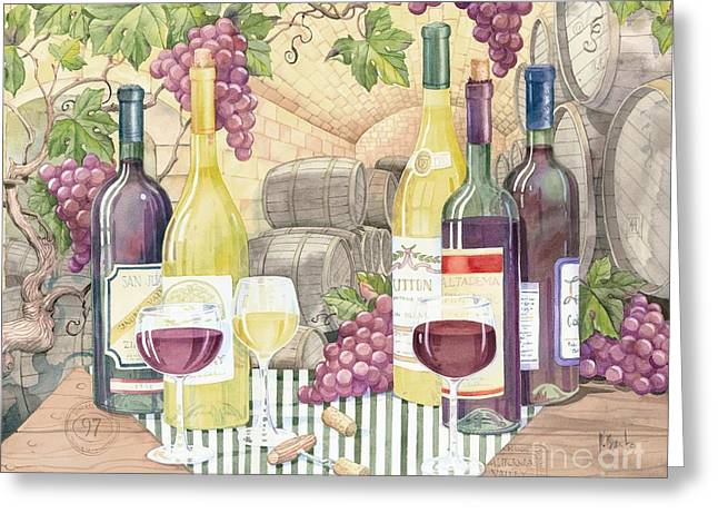 Vintage Wine II Greeting Card by Paul Brent