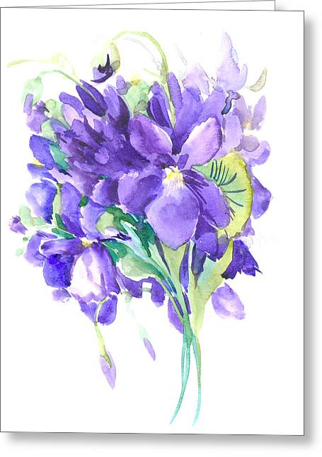 Violets Greeting Card by Suren Nersisyan